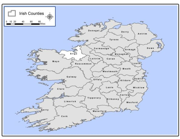 Map Of Ireland Sligo.Using Arcgis To Map Where John F Armstrong 1845 1893 Grew Up In